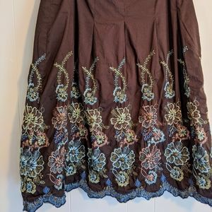 Edward petite embroidered skirt